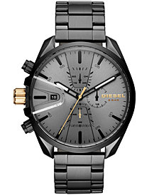 Diesel Men's Chronograph MS9 Chrono Black Stainless Steel Bracelet Watch 47mm