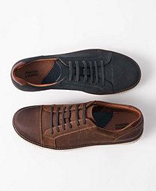Johnston & Murphy Men's Walden Cap-Toe Suede Lace-Up Sneakers