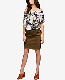 RIPE Maternity Frayed Pencil Skirt