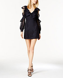 French Connection Cold-Shoulder Lace Dress