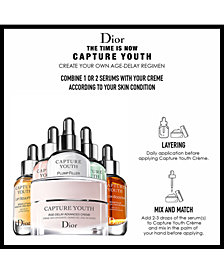 Select Three Complimentary Capture Youth skincare packettes with any 2 product Dior purchase
