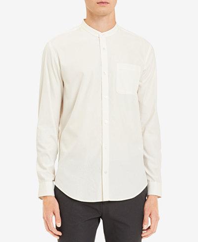 Calvin Klein Men's Band-Collar Pocket Shirt