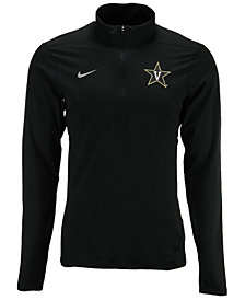 Nike Men's Vanderbilt Commodores Solid Dri-FIT Element Quarter-Zip Pullover