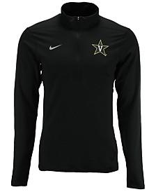 Nike Men's Vanderbilt Commodores Solid Dri-FIT Element Quarter-Zip Pullover