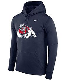 Nike Men's Fresno State Bulldogs Therma Logo Hoodie