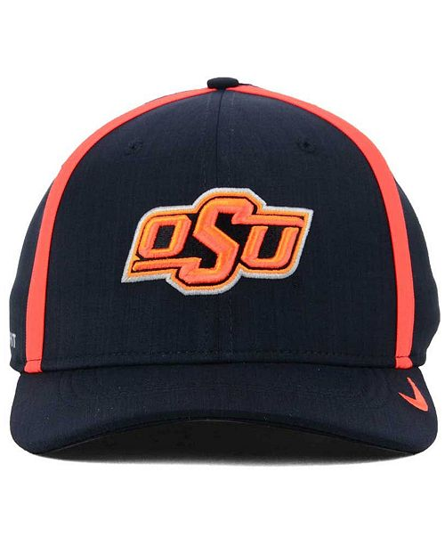 2675515c143 Nike Oklahoma State Cowboys Aerobill Classic Sideline Swoosh Flex Cap -  Sports Fan Shop By Lids - Men - Macy s
