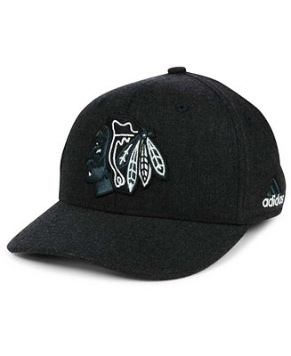 67eff7eaf ... wholesale adidas chicago blackhawks black tonal 873 flex cap sports fan  shop by lids men macys