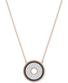 "Swarovski Rose Gold-Tone Circle 15-3/4"" Pendant Necklace"