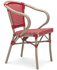 Dalien Outdoor Dining Arm Chair (Set Of 2), Quick Ship