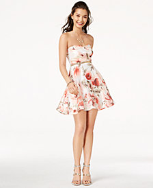 Trixxi Juniors' Strapless Fit & Flare Dress