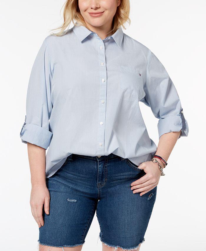 Tommy Hilfiger - Plus Size Cotton Utility Shirt