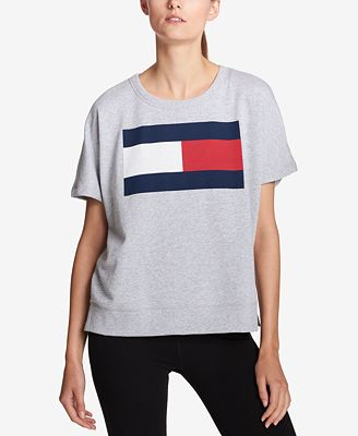 Tommy Hilfiger Sport Short-Sleeve Logo Top, Created for Macy's