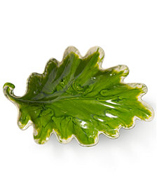 Vietri Reactive Leaves Collection Bowl