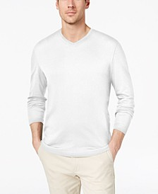 Men's Supima® Blend Knit V-Neck Long-Sleeve T-Shirt, Created for Macy's