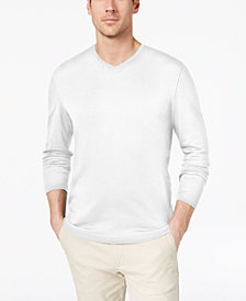 Tasso Elba Men's Supima Blend Knit V-Neck T-Shirt, Created for Macy's