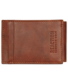 Men's Crunch Magnetic Front-Pocket Leather Wallet