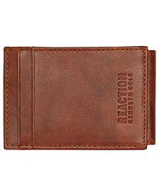 Kenneth Cole Reaction Men's Crunch Magnetic Front-Pocket Leather Wallet