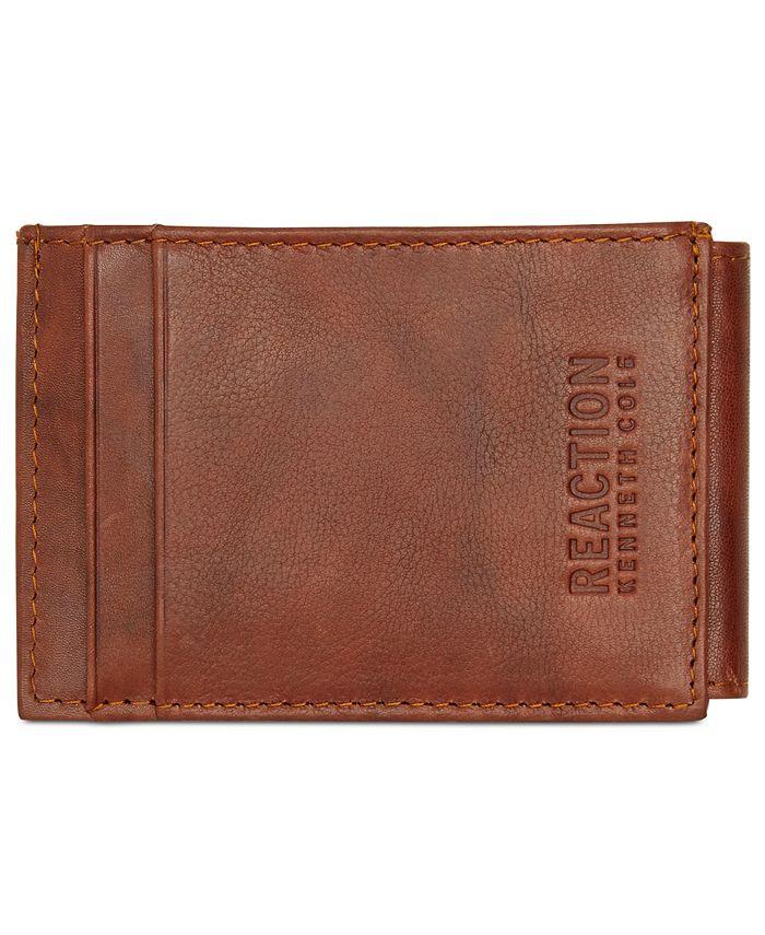 Kenneth Cole Reaction - Men's Crunch Magnetic Front-Pocket Leather Wallet