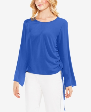 Vince Camuto  SIDE-TIE BELL-SLEEVE TOP
