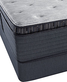 "Beautyrest Platinum Preferred Chestnut Hill 15"" Luxury Plush Pillow Top Mattress Set - Queen"