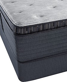 "Beautyrest Platinum Preferred Chestnut Hill 15"" Luxury Plush Pillow Top Mattress Set- Queen Split"