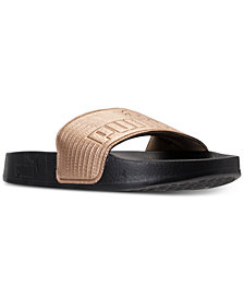 Puma Women's Leadcat Leather Slide Sandals from Finish Line