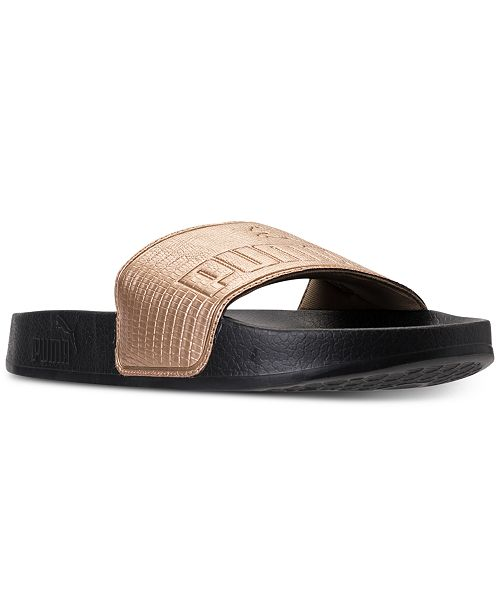 1d6109854412 Puma Women s Leadcat Leather Slide Sandals from Finish Line ...