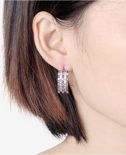 Macy S Cubic Zirconia Small Huggie Hoop Earrings In Sterling Silver Fashion Jewelry Watches
