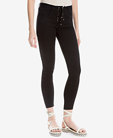 Max Studio London Lace-Up 5-Pocket Jeans, Created for Macy's