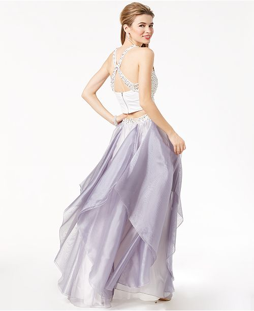 Say Yes To The Prom Juniors 2 Pc Embellished Gown Created For