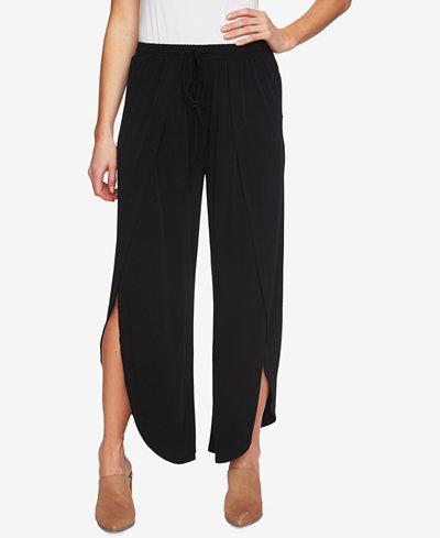 1.STATE Drawstring-Waist Split-Leg Pants