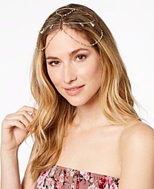 I.N.C. Gold-Tone Mixed Metal Hard Chain Headpiece, Created for Macy's