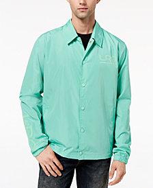LRG Men's Flocked-Logo Waterproof Coaches Jacket
