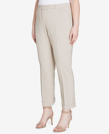 Tahari ASL Plus Size Stretch Slim-Fit Pants