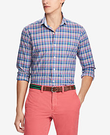 Polo Ralph Lauren Men's Big & Tall Classic Fit Plaid Sport Shirt