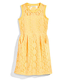 Nowadays x Bailee Madison Illusion Neck Lace Dress, Big Girls & Juniors