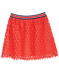 Tommy Hilfiger Star Crochet Lace Skirt, Big Girls