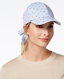 I.N.C. Striped Ditsy Floral Baseball Cap, Created for Macy's
