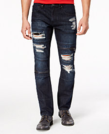 I.N.C. Men's Slim-Straight Stretch Ripped Jeans, Created for Macy's