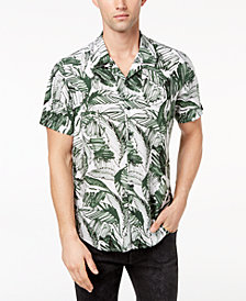 GUESS Men's Marker Palm-Print Shirt
