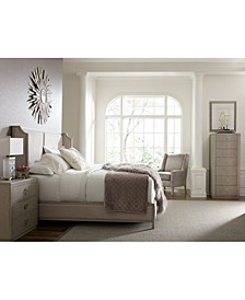Rachael Ray Cinema Upholstered Shelter Bedroom Collection