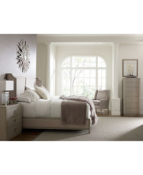 Furniture Rachael Ray Cinema Upholstered Shelter Bedroom Furniture Collection