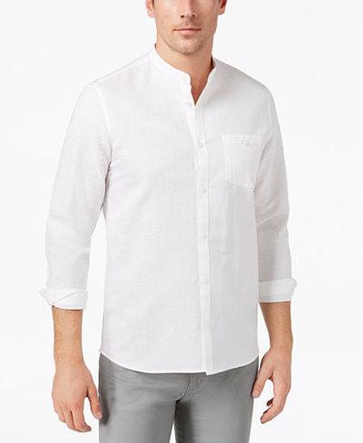 Calvin Klein Men's Band-Collar Shirt
