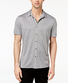 Alfani Men's Heather Stretch Shirt, Created for Macy's