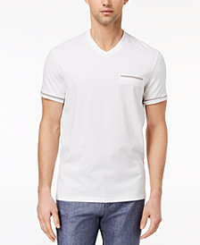 Ryan Seacrest Distinction Men's Slim-Fit Stripe V-Neck Pocket T-Shirt, Created for Macy's