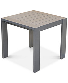 Aruba Gunmetal Aluminum End Table, Created for Macy's