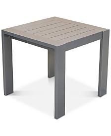 Aruba Gunmetal Aluminum End Table, Created for Macy's