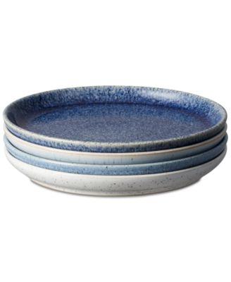 Studio Blue 4-Pc. Medium Coupe Plate Set