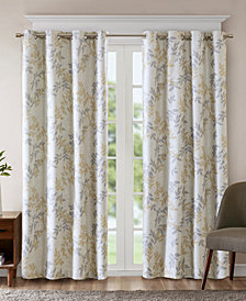 SunSmart Julie Textured Botanical-Print Blackout Window Panels