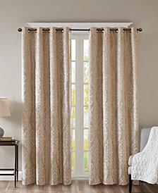 "SunSmart Mirage 50"" x 95"" Knit Damask Total Blackout Window Panel"